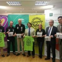 Presentación hoy en Sevilla del desafío Donando Vidas 2014, con el Coordinador Regional de trasplantes de Andalucía, Manuel Alonso Gil, Eduardo Rangel y Manuel Dominguez Jimenez