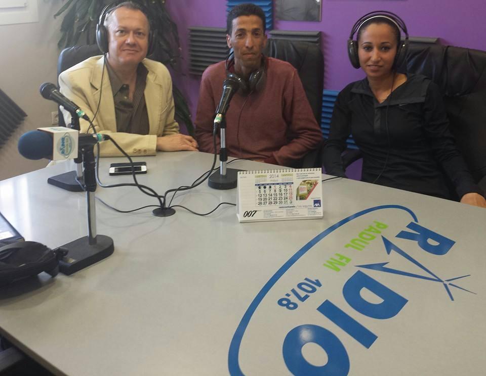 Mounir Elouardi y Sra Nazha Machruoh en Radio Padul