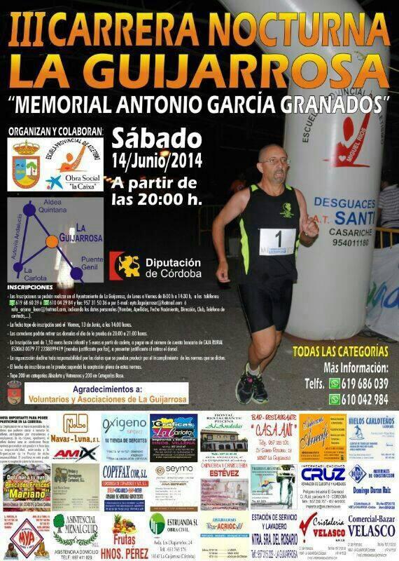 Hoy toca el turno a la III Carrera Nocturna La Guijarrosa (Córdoba)