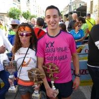 Antonio Montero y Maria Belmonte revalida su triunfo en la Carrera Popular de Aguilar de la Frontera (Córdoba)