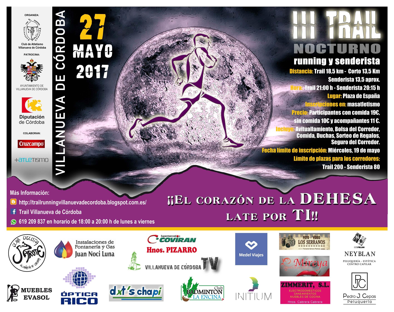 III Trail Nocturno Running y Senderista (Villanueva de Córdoba)