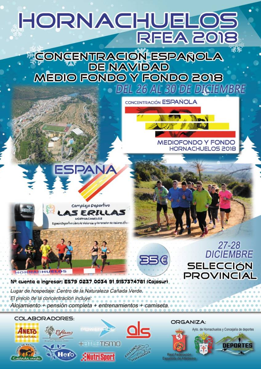 La localidad cordobesa de Hornachuelos volverá a ser sede de la Concentración de Navidad de RFEA