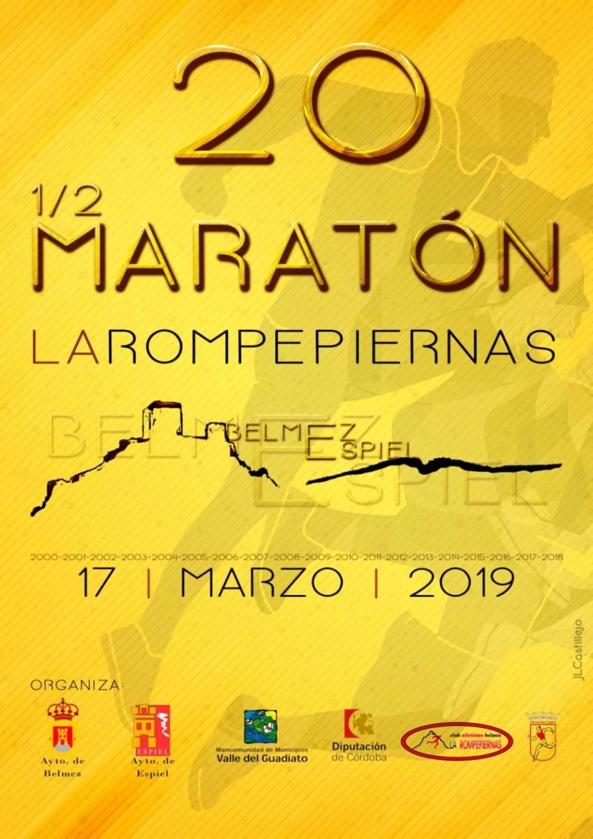 """Atención más de 200 inscritos para la 20 Media Maratón """"La Rompepiernas"""", este año Belmez-Espiel, el domingo último día de precio reducido"""
