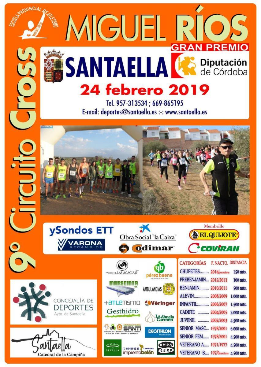 Clasificaciones Provicionales del 9º Circuito de Cross Miguel Ríos