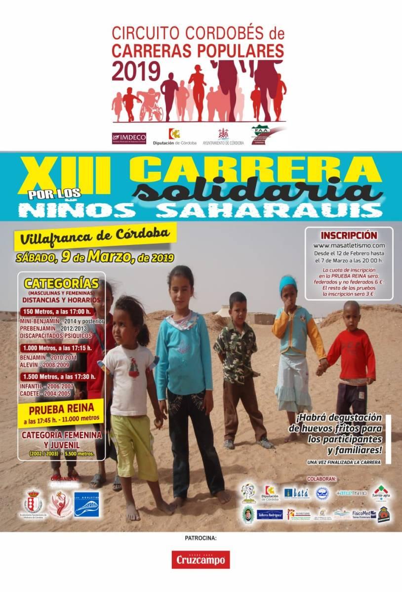 Ya puedes inscribirte en la Carrera Solidaria por los Niños Saharauis