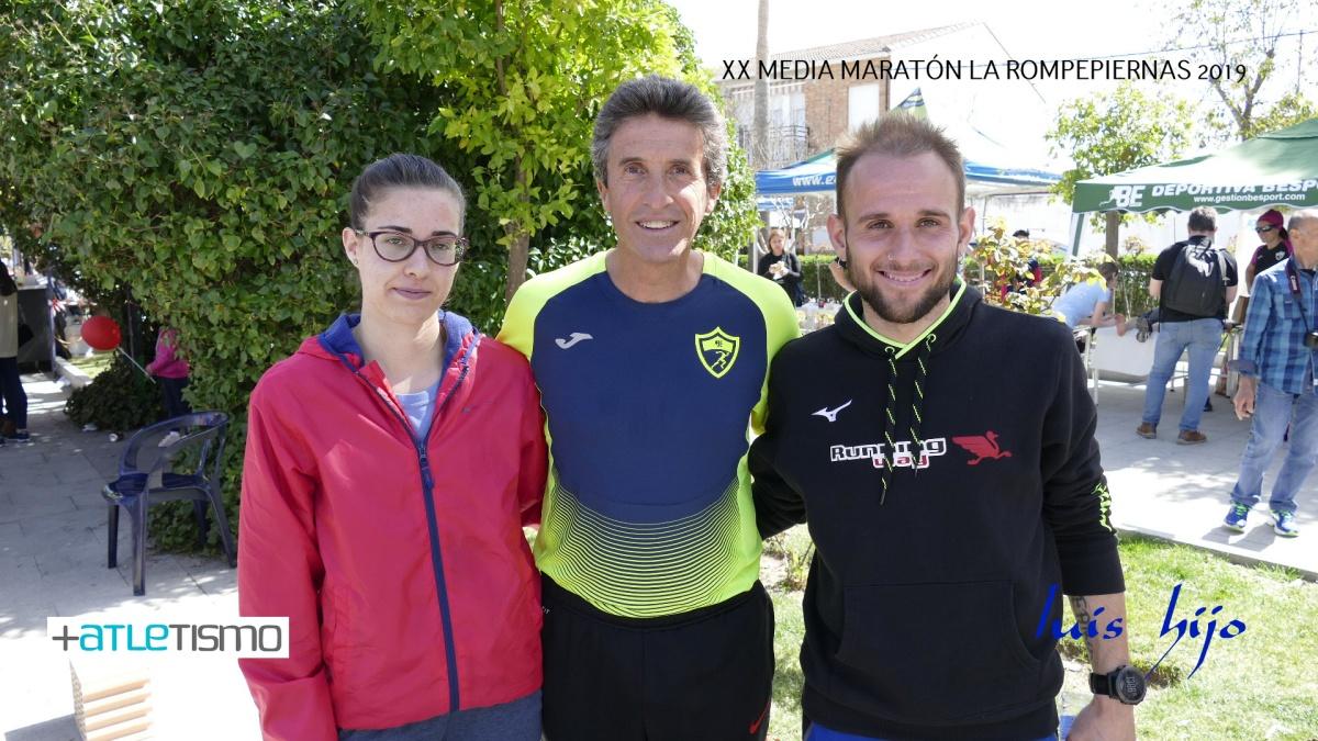 Ángel Merino y Azahara Cerro brillan en la dura Media Maratón La Rompepierna