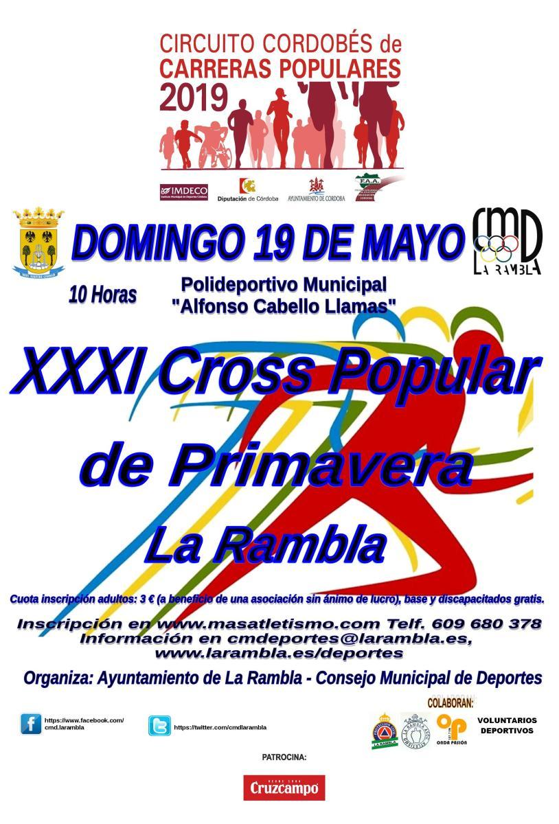 Marca en tu agenda el 19 de mayo e inscríbete en el XXXI Cross Popular de La Rambla