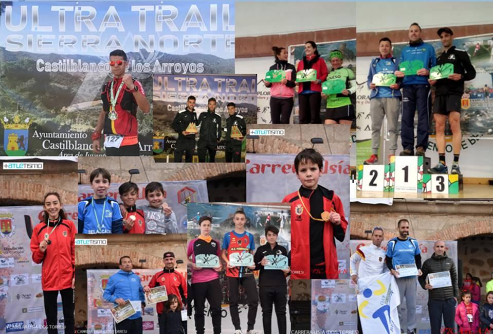 13 podiums PAG y A8000m Peñarroya