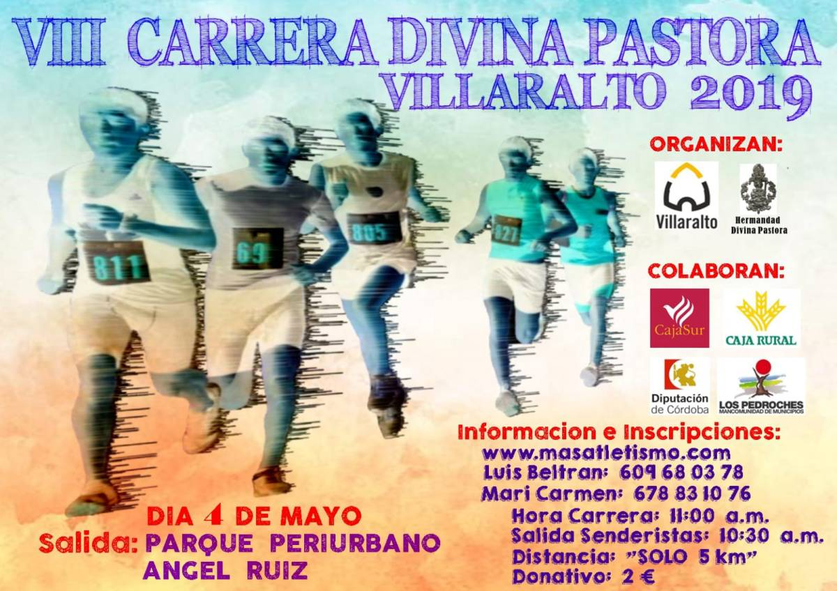 Abrimos inscripciones para la VIII Carrera Divina Pastora Villaralto 2019