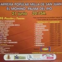 Este próximo viernes se celebra la tradicional Milla de San Juan (El Mohino-Palma del Río)