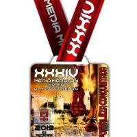 Presentamos la medalla grabada con el tiempo realizado que se entregará en la XXXIV Media Maratón Córdoba Almodóvar del Río, atención quedan 60 dorsales