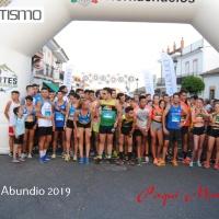 Importante participación en la Carrera Local San Abundio 2019, el triunfo fue para Raquel Hernández y Juan Manuel Requena