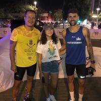 Miguel Espinosa y Miria Dura García  vencedores de la Night Running celebrada anoche en Córdoba con cerca de dos mil participantes