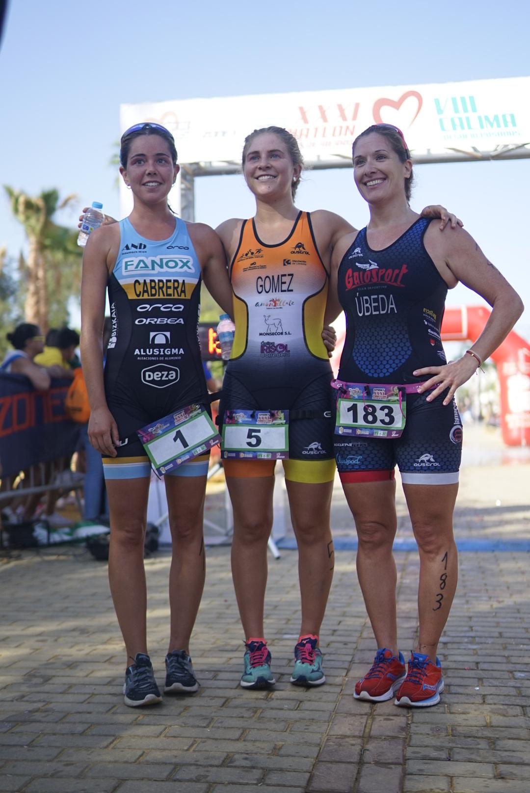Podium femenino sprint