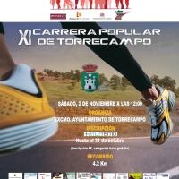 Tenemos abiertas las inscripciones para XI Carrera Popular de Torrecampo que se celebrará el próximo dia 2 de noviembre