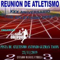 El Club Atletismo Orippo celebra una Reunión de Atletismo con motivo de XXX Aniversario de la creación de la entidad