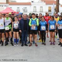 Juan José Gallego y Virginia Moya en el cross largo y Marina Romero y Ángel Puertas en el  crosstrail corto vencedores  en Belalcázar