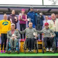 El atleta cordobés en silla de rueda José Antonio Ballesteros 2ª en la Media Maratón de Sevilla