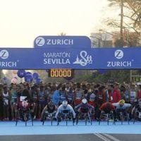 El atleta en silla de rueda Jose Antonio Ballesteros 9º en la Zurich Maratón Sevilla