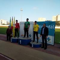 El atleta del Club Pozoblanco Ginés Luis Sánchez Ramírez medalla de bronce Andaluz en martillo Sub18