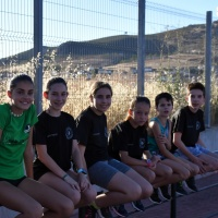 Sección de entrenamiento del club Sierra Norte en las pista de Peñarroya-Pueblonuevo