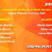 La selección española está preparada para el Mundial de Media Maratón del 17 de octubre en Gdynia (Polonia)