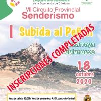 Definitivamente el próximo día 18 de octubre se celebra la I Subida al Peñon (Peñarroya Pueblonuevo)