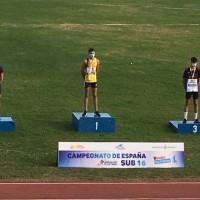 El atleta del club Gedysa José Pérez bronce en el Campeonato de España Sub16