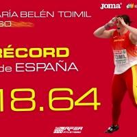 Belén Toimil: fulmina el récord de España de peso con 18.64m en el Europeo de Torun (Polonia)