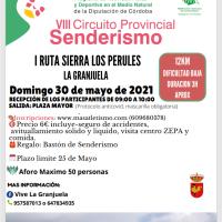 La I Ruta Sierra de Los Perules abrirá su plazo de inscripción el próximo dia dos de mayo