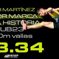 Asier Martínez, mejor marca española sub23 de la historia en 110m vallas (13.34) en #LaLigaJOMA