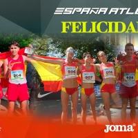 Tres oros por equipos, (20km masculinos, 20km femeninos y 10km sub20 masculinos) Y siete podios individuales en el Europeo de marcha por selecciones