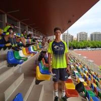 El atleta palmeño Juan Francisco Trujillo defiende los colores del Caja Jaén en División de Honor